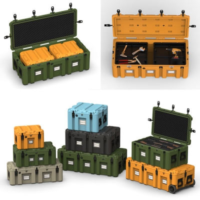 poly truck tool box roto-mold plastic Military Tool Box cooler